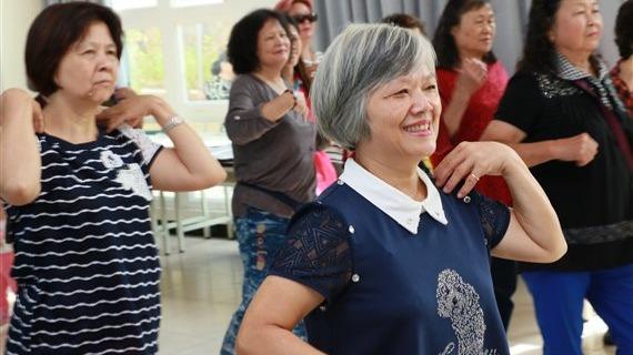 林口太平社區銀髮長輩一起動健康