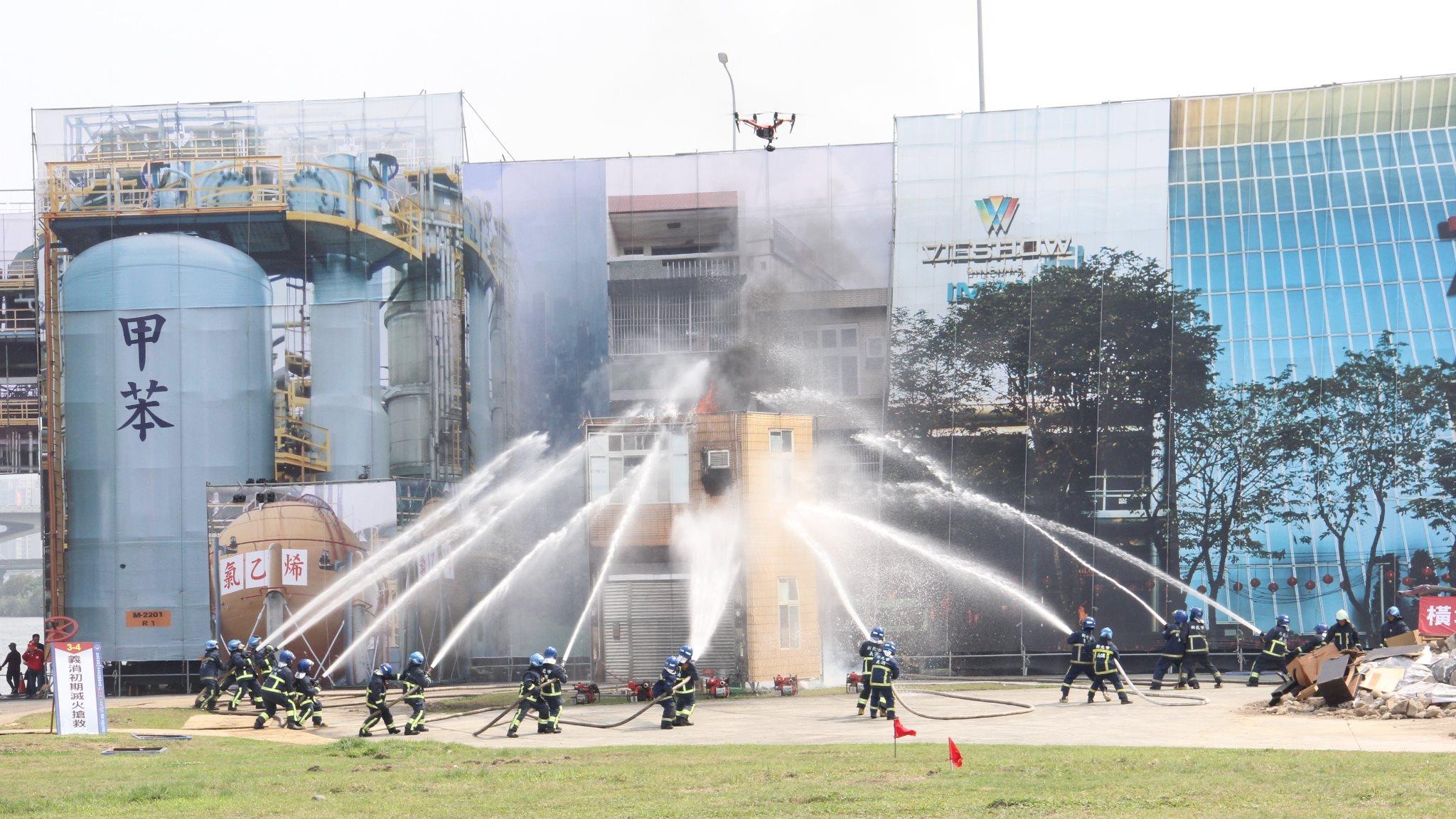 108年全民防衛動員暨災害防救(民安5號)演習規模歷年最大
