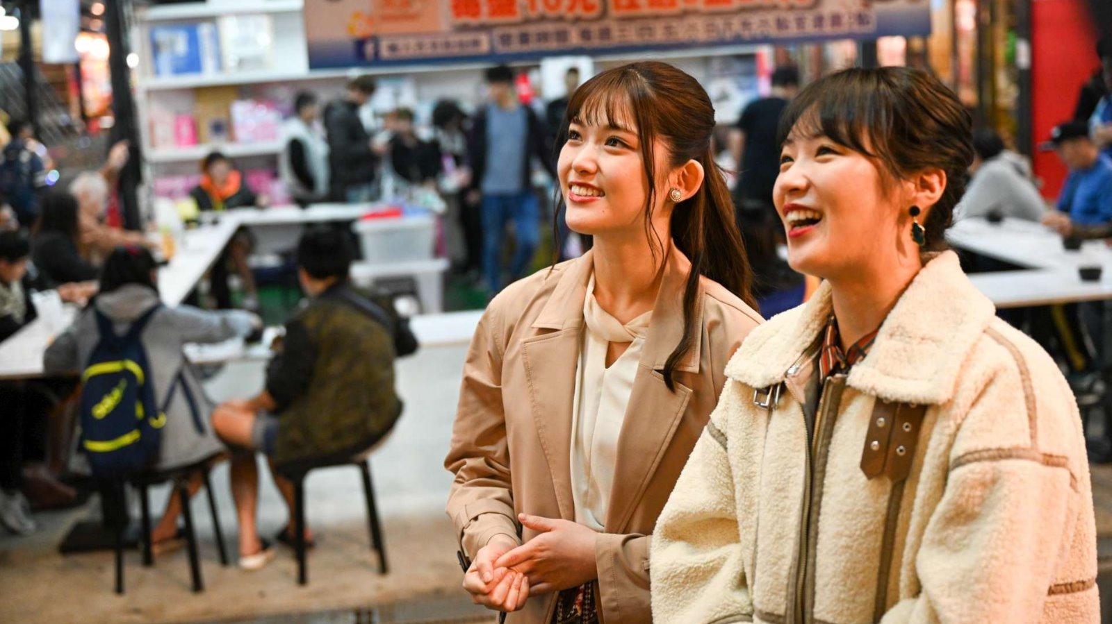 乃木坂46成員來到樹林興仁夜市體驗新北夜市文化
