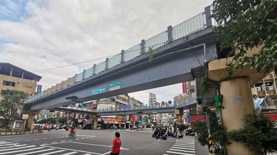 新店區中正陸橋拆除前