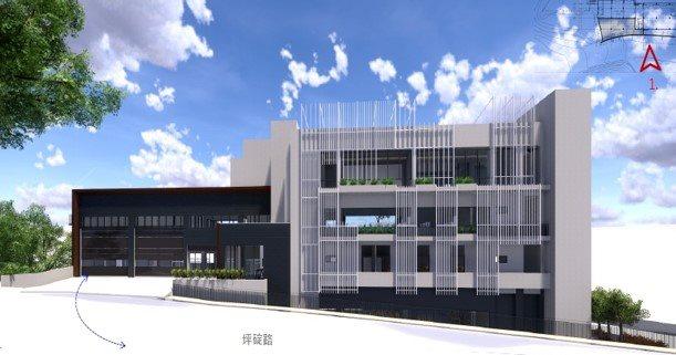 新建消防局第四大隊坪林分隊及市民活動中心(施工中)