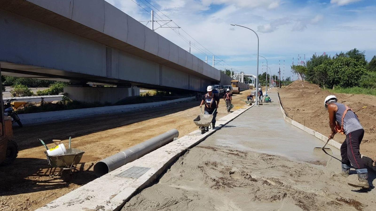11號計畫道路人行道施作
