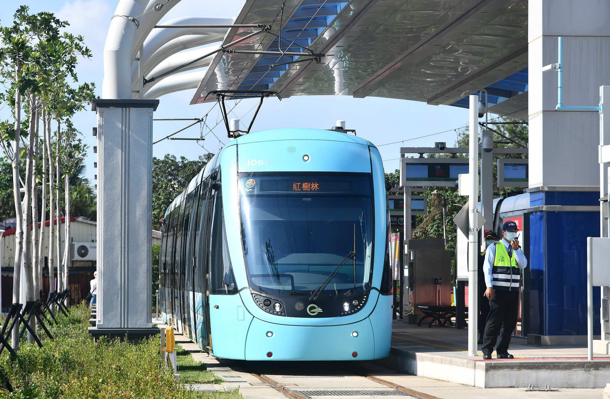 淡海輕軌第一期藍海線正式通車