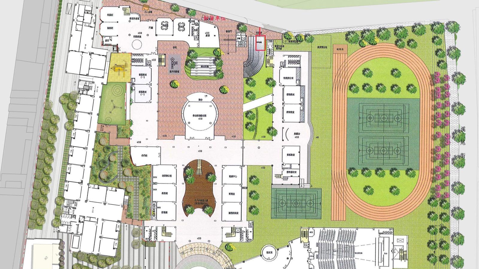 校園全區規劃設計圖