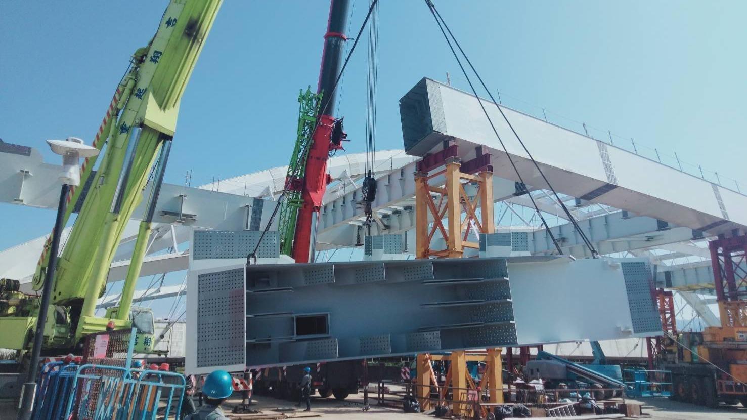 三峽大漢溪GA1314鋼箱梁吊裝作業