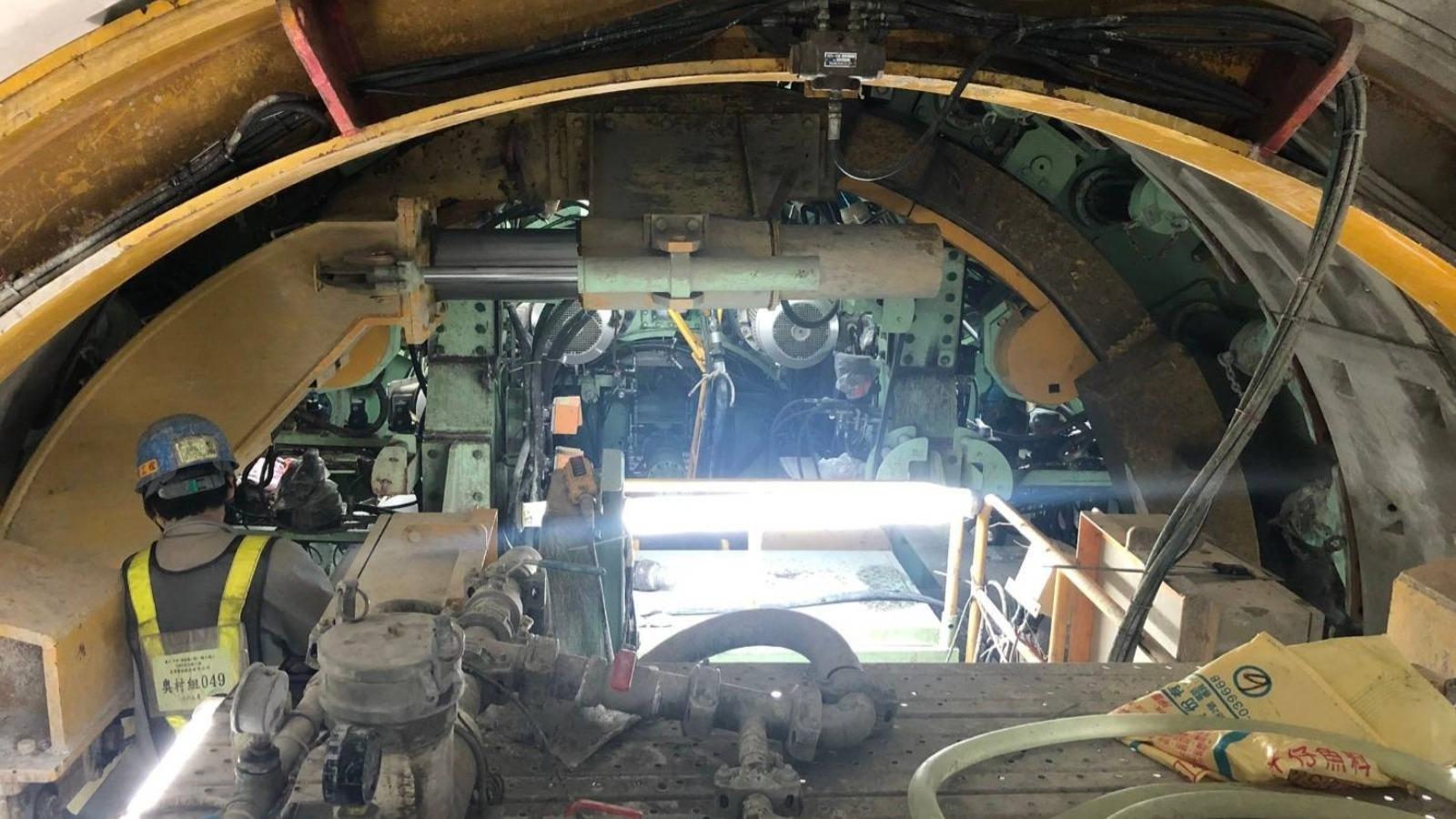連城路861A 東側工作井潛盾隧道下行線(1號機)潛盾隧道掘進R171