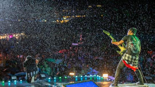 2019貢寮海洋音樂祭─雨中熱情表演的樂團