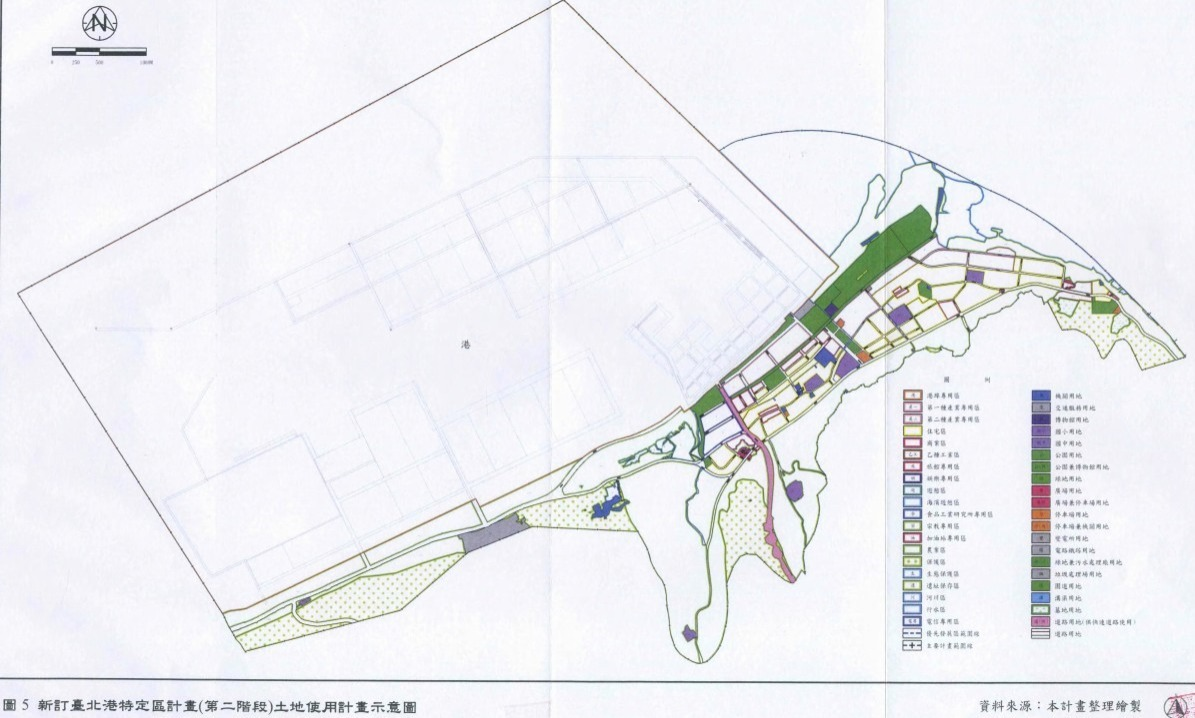 臺北港特定區細部計畫示意圖